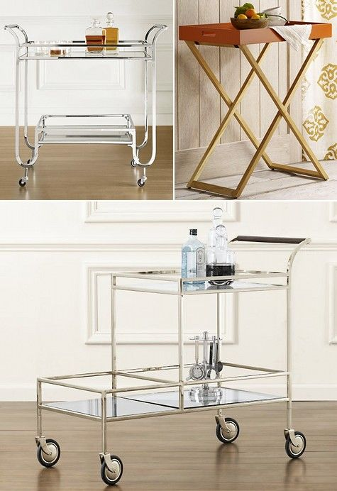 Bar Carts Via Design Sponge: Duncan Bar Cart $700, Butler Tray And Stand  $139