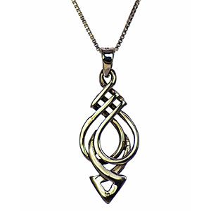 Celtic Knot Warrior Arrow Necklace in Sterling Silver
