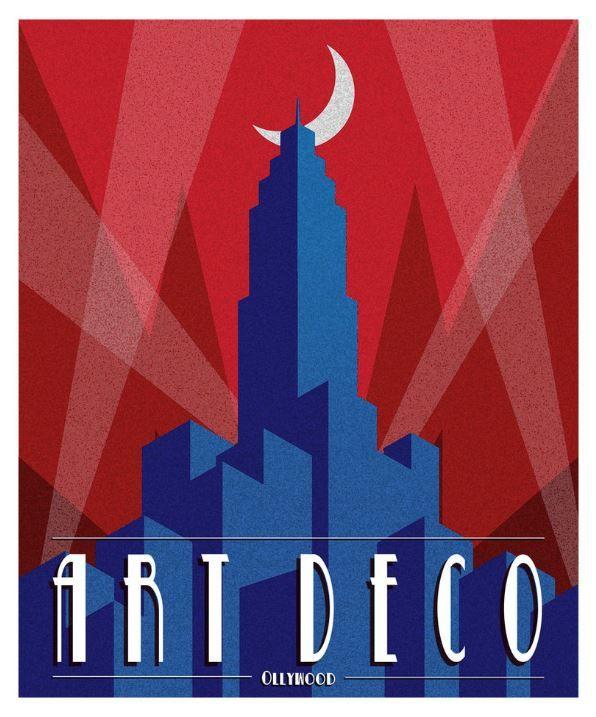 Art Deco Poster 'Olywood