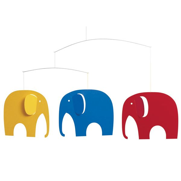 Flensted Mobiles: Elephant Party mobile
