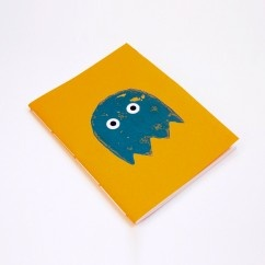 Pacman Sarı Defter - #tasarim #tarz #sarı #rengi #moda #hediye #ozel #nishmoda #yellow #colored #design #designer #fashion #trend #gift
