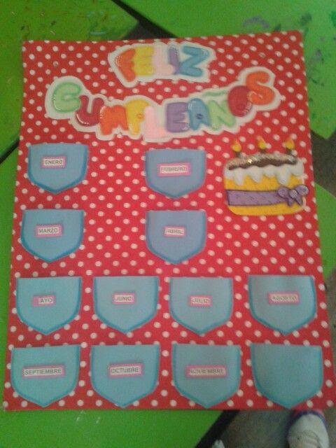 Preescolar - cartel de cumpleaños | Decoración para aula | Pinterest