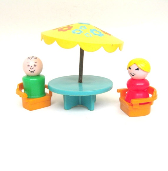Vintage Fisher Price Patio Set by toysofthepast on Etsy, $14.00