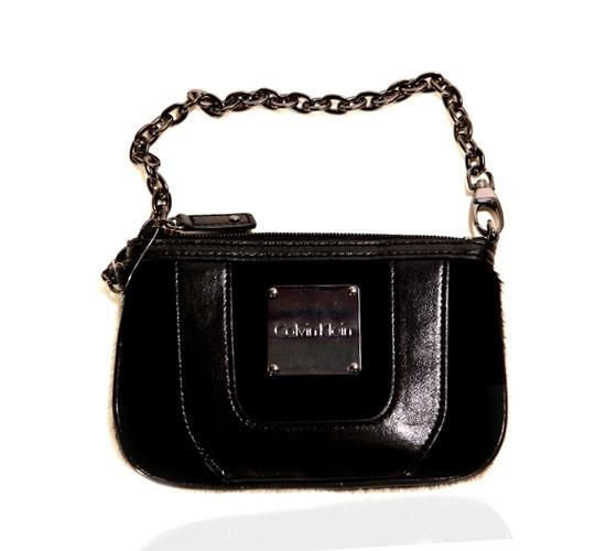 Calvin Klein Black Fur Clutch on glamouronthego.co.uk