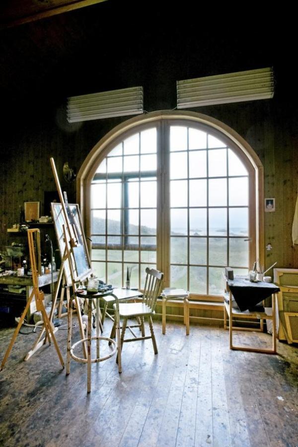 Nerdrum's studio