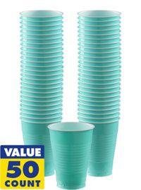 Robin's Egg Blue 16oz Plastic Cups | 50ct