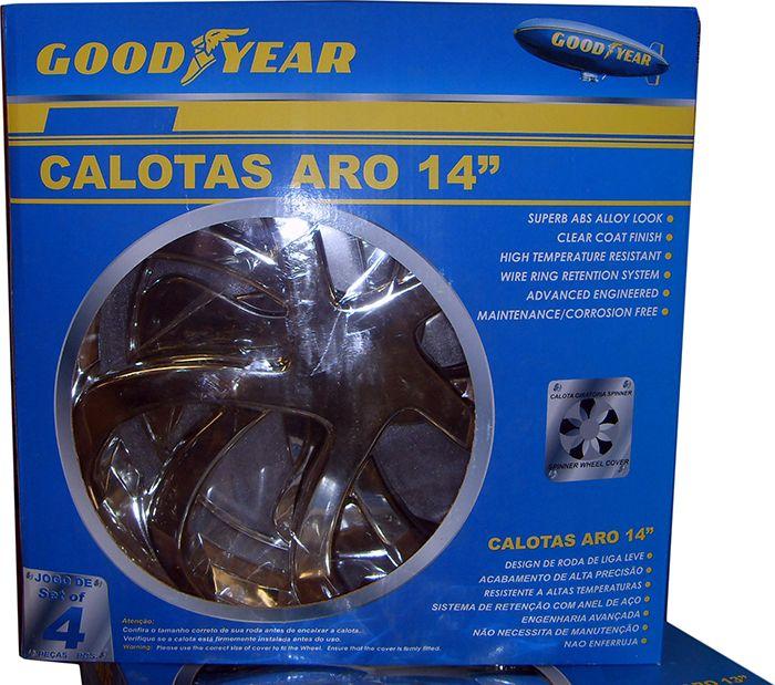 """Calotas de Plástico Goodyear - Diversos modelos e cores - Tamanhos: 13"""", 14"""" e 15"""""""