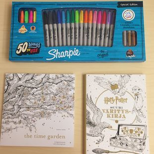 WAY TO DE-STRESS: COLORING BOOKS