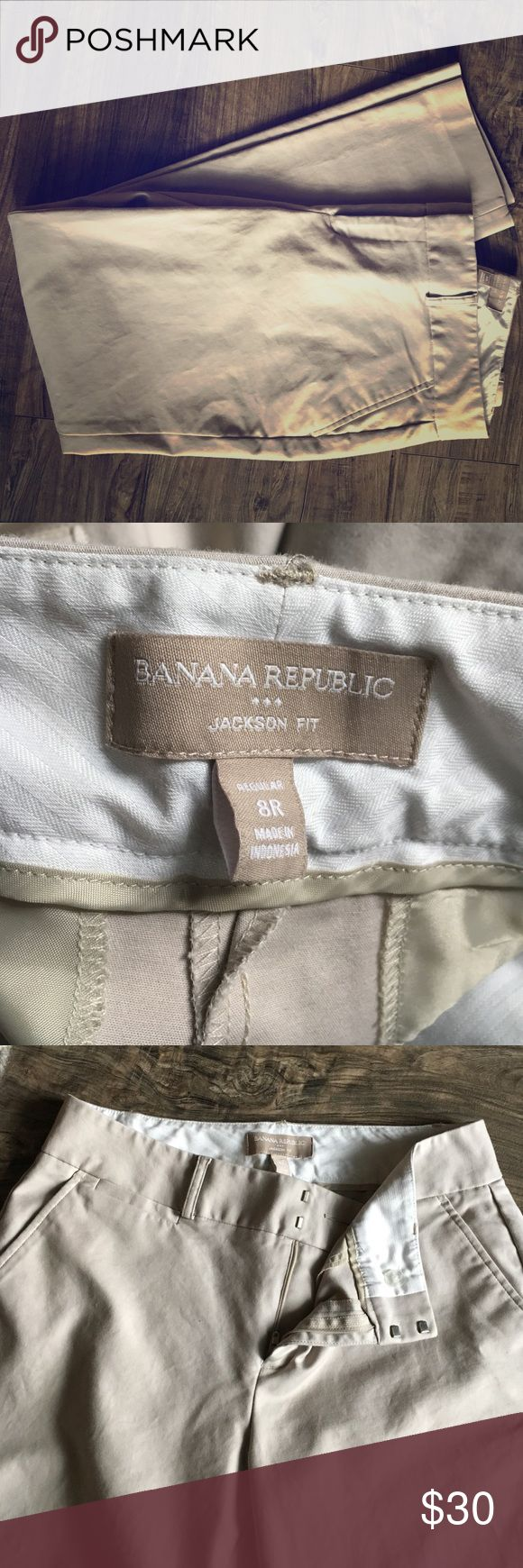 Banana Republic Jackson fit khakis Like new. Slim fit khakis. Size 8R Jackson fit Banana Republic Pants Skinny