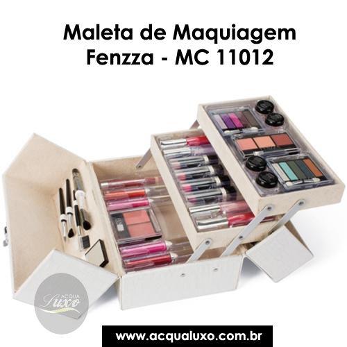 Maleta de Maquiagem Fenzza - MC 11012 foi elaborada especialmente para atender as necessidades de maquiadores profissionais e de amadores. Por um precinho irresistível!