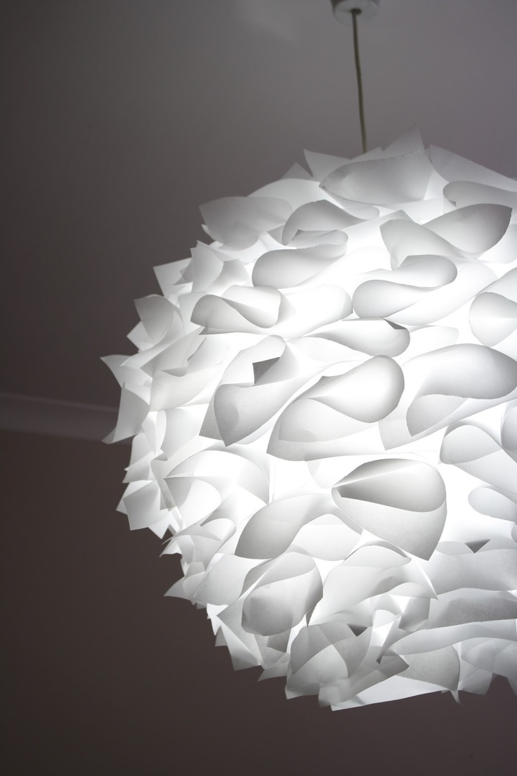 My Pondokkie: PAPER LAMPSHADE- this might be my favorite diy paper lantern upgrade.  So pretty!