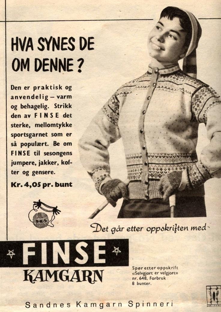 Reklame i Norsk Ukeblad nr 46 fra 1956 - mønster 648