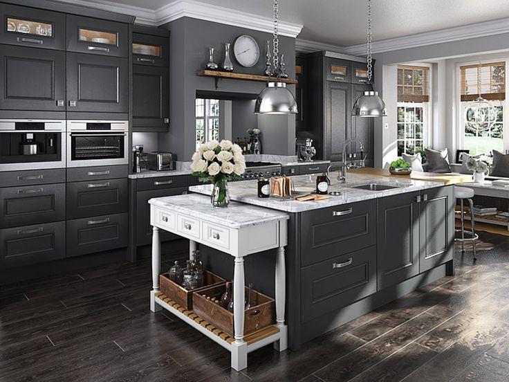 An Innova Bedale Painted Graphite kitchen design idea - http://www.diy-kitchens.com/kitchens/bedale-graphite/details/