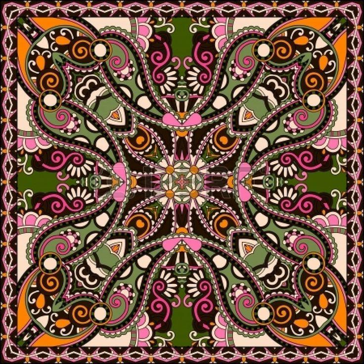 Traditionnel ornement floral paisley bandana. Vous pouvez utiliser ce mod?le dans la conception de tapis, ch?le, oreiller, coussin