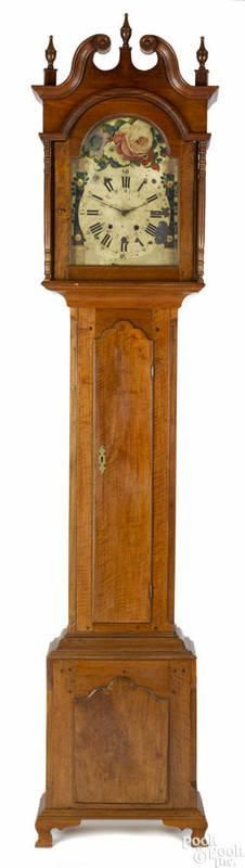 Pennsylvania Chippendale walnut tall case clock, late 18th c., with a German wag works - Price Estimate: $1000 - $2000