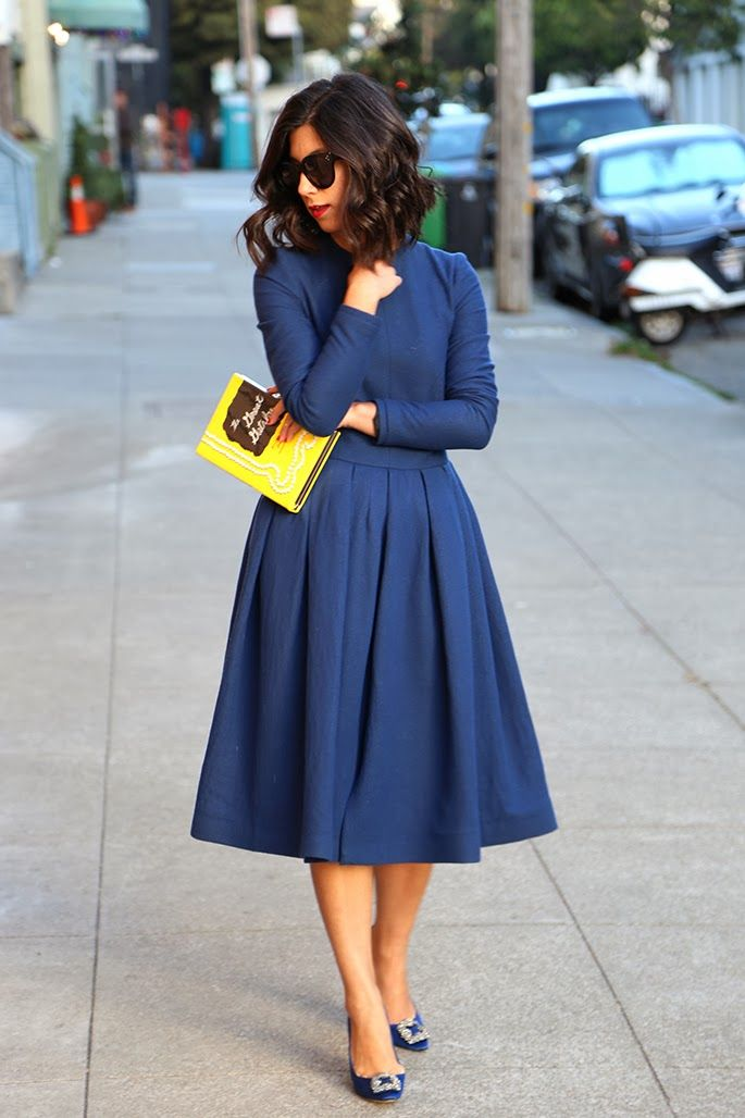 sometimes a navy dress is so much prettier than a black dress. Modesty revival!