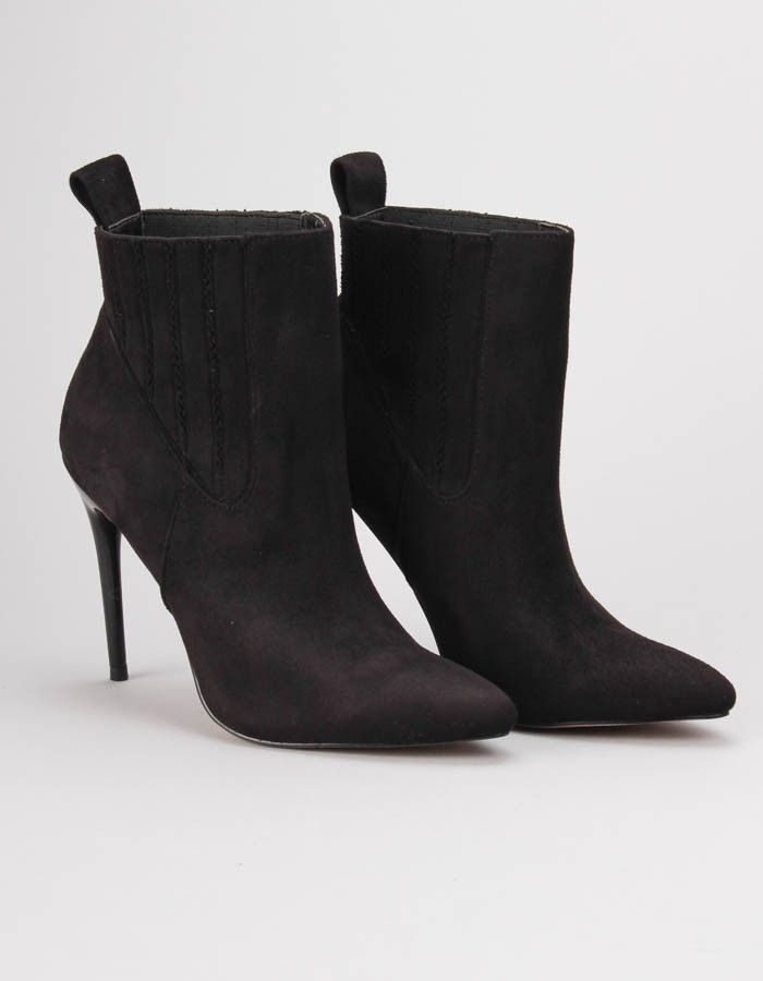 Jessica Wright Black Apollia Ankle Boots | Accent Clothing