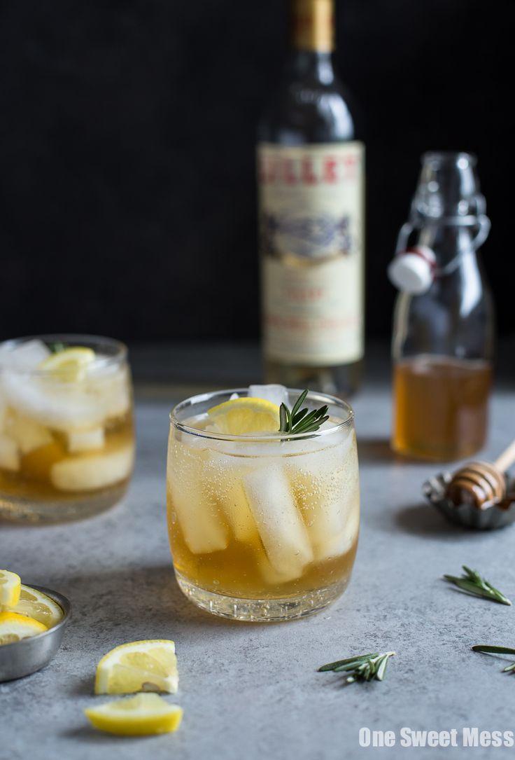 Honey Rosemary Lillet Spritzer