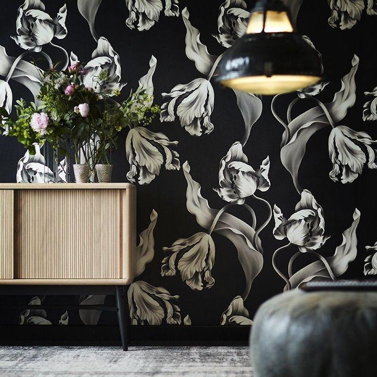Dark Floral Ii Black Saturated Xl Wallpaper: Best 25+ Black Wallpaper Ideas On Pinterest