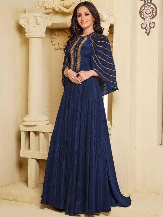 6c6234ca1ea2 Indian Bollywood Designer indo western gown Kurta Kurti women ethnic dress  -dp04  Handmade  SalwarKameez  partywear