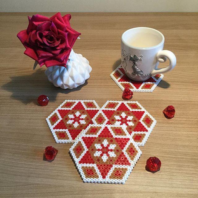 Christmas coasters hama beads by TCAshop