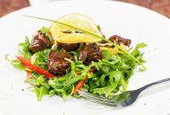 Crispy Duck Salad with Soy Truffle Vinaigrette