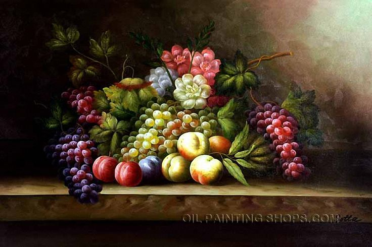"""Hand Painted Old Oil Painting Still Life Fruit Painting Grape Peach, Size: 36"""" x 24"""", $116. Url: http://www.oilpaintingshops.com/hand-painted-old-oil-painting-still-life-fruit-painting-grape-peach-1351.html"""