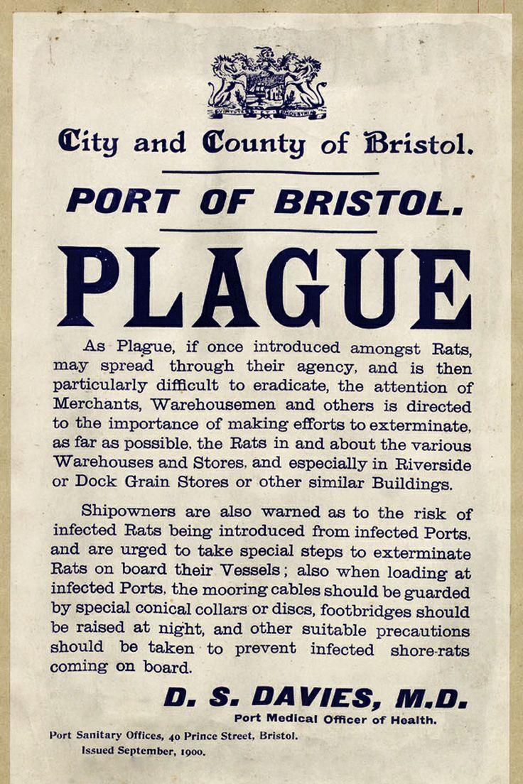Port of #Bristol Plague Warning notice