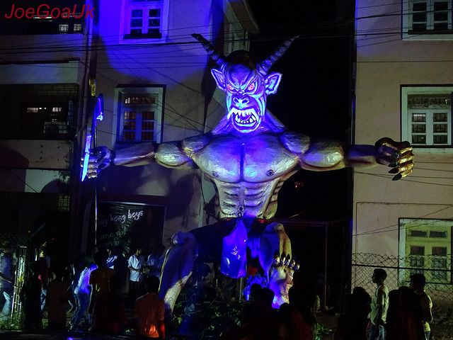 In Goa is prevalent the quaint practice – perhaps unique in India – of the reenactment of the Narkasur mythos.