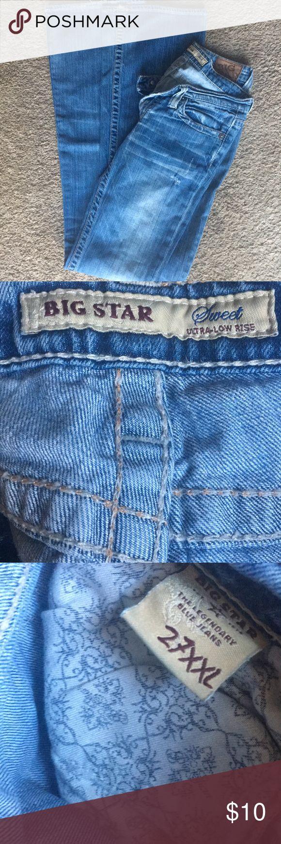 Big Star Sweet Ultra Low Rise Jeans 27 XXL Big Star Jeans Boot Cut