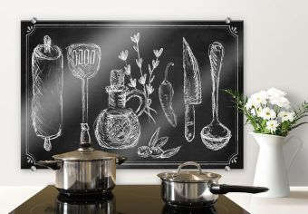 Pannelo paraschizzi - Cucina rustica