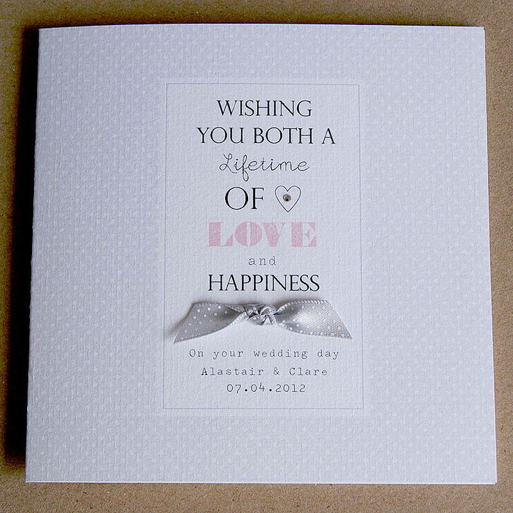 Personalised Wedding Card from notonthehighstreet.com