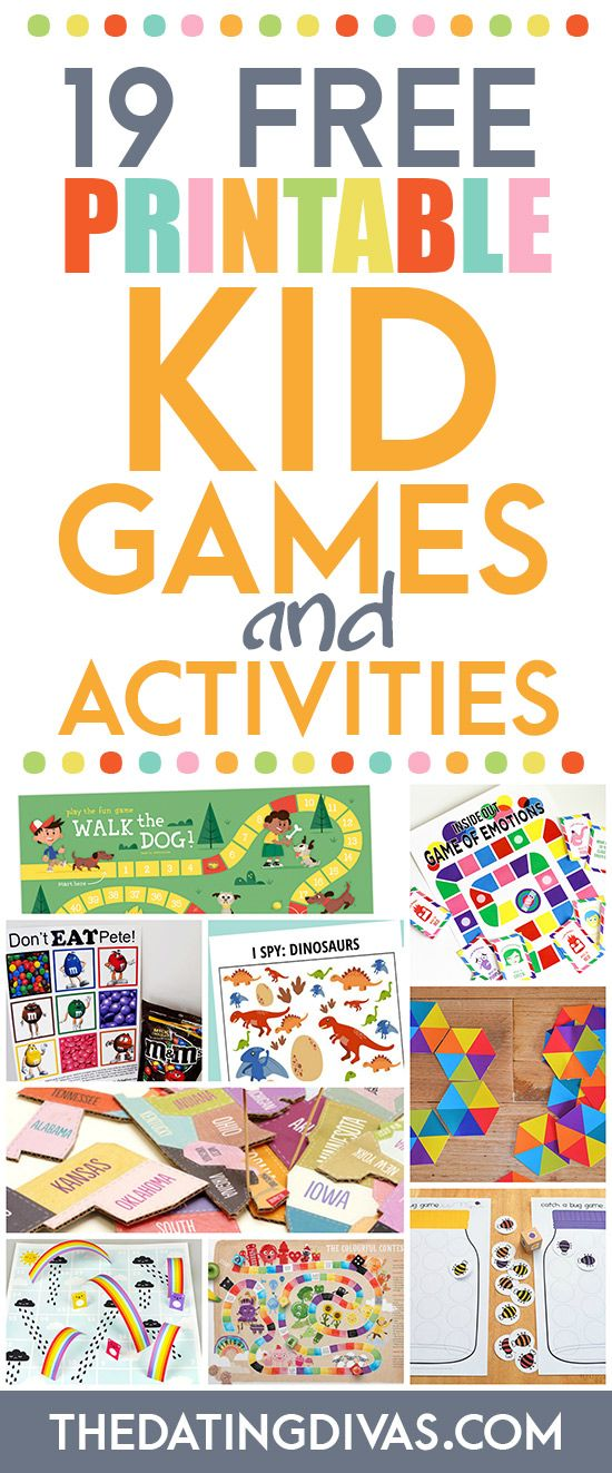 LOTS of free printable games for kids. These are so fun! www.TheDatingDivas.com