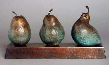 Georgia Gerber, Still Life: Pears and Quail Sculpture