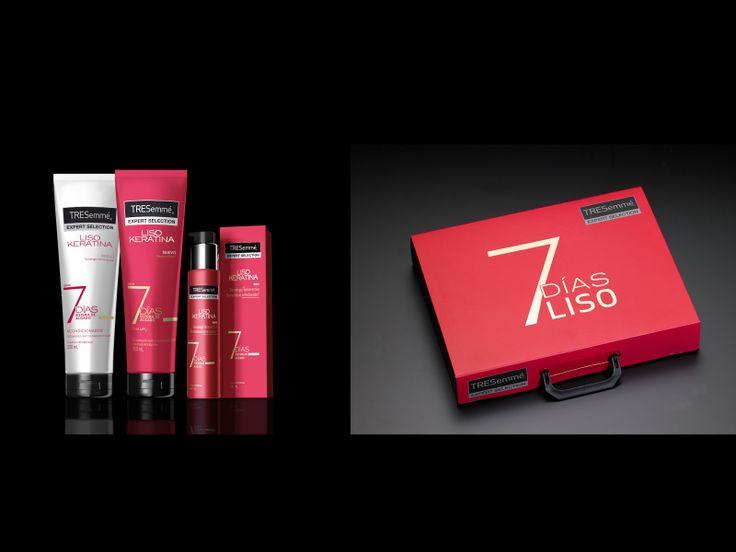 Presenter dirigido a los distribuidores para el lanzamiento de la nueva línea 7 DÍAS LISO, con los productos y el catálogo. 2014. Unilever