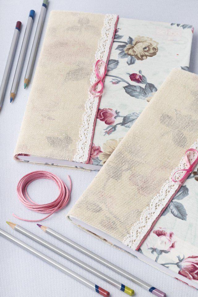 Cómo forrar cuadernos de forma sencilla con tela y yute