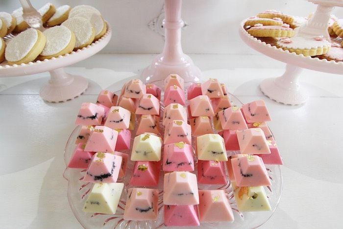Pretty in Pink Baptism Dessert Table via Kara's Party Ideas | KarasPartyIdeas.com (25)