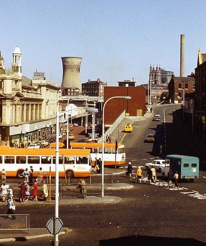 STOCKPORT: Chestergate & Mersey Square, c.1970