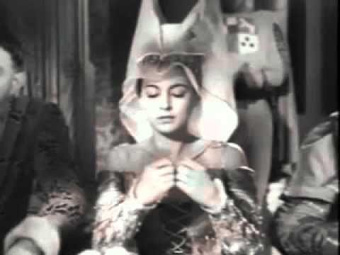 """""""Démons et merveilles"""" Poème de Jacques Prévert mis en musique par Maurice Thiriet .pour le film de Marcel Carné  """" Les visiteurs du soir"""" (1942). Jacques Jansen double   ici Alain Cuny dans le röle de Gilles, l'envoyé du diable.La princesse est jouée par Marie Déa. Arletty est Dominique, l""""autre envoyée du diable."""