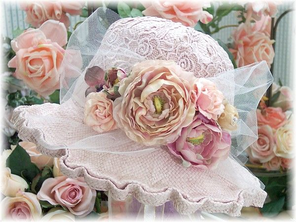 I think I am going to put a cute hat like this on a hat stand on the dresser.  Love it!