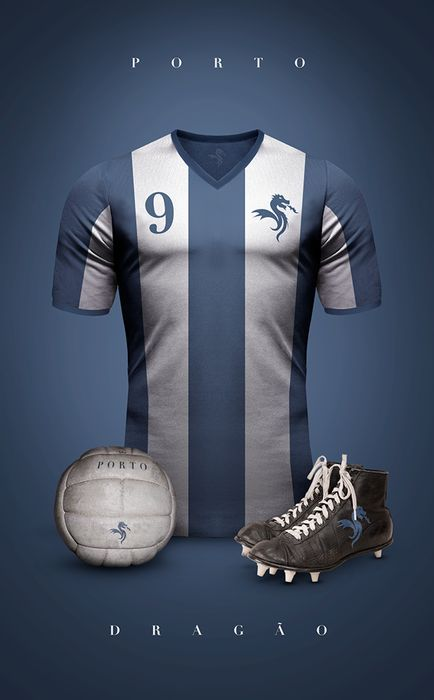 Top 20 des superbes maillots de foot vintage, imaginés par Emilio Sansolini - F.C Porto