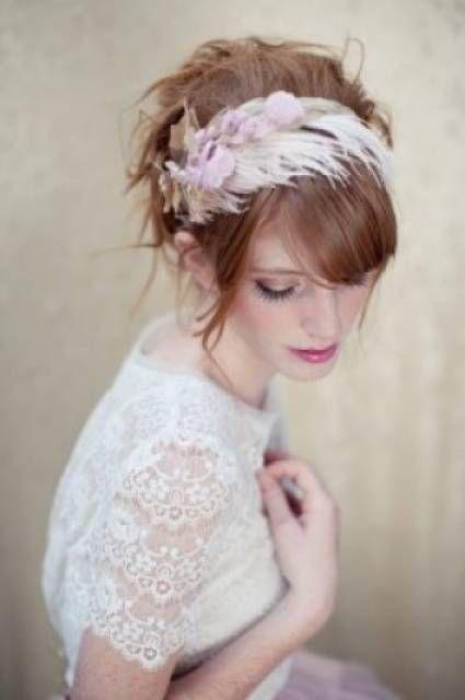 Diferentes estilos de tocado para novias [Fotos]