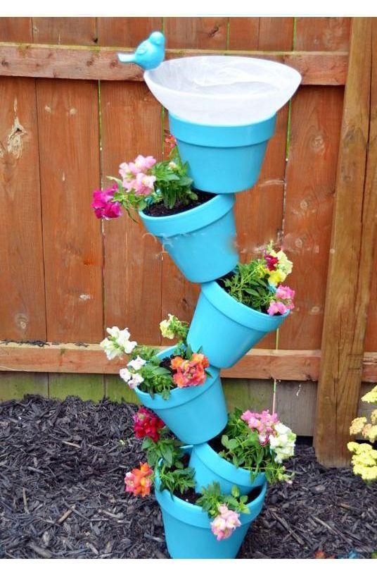 Idea para decorar con macetas los espacios de exterior   http ...