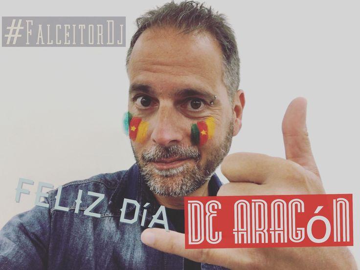 Celebremos el día de Aragón con un contundente: VIVA HONDURAAAAS!! Y pintémonos en el rostro la bandera de Camerún. Hoy el gran #FalceitorDj lo festeja en el #Vivalavida!! Y, luego, descansa hasta el finde que viene para buscar la inspiración como gran artista culto que es el tío ahí y tal.