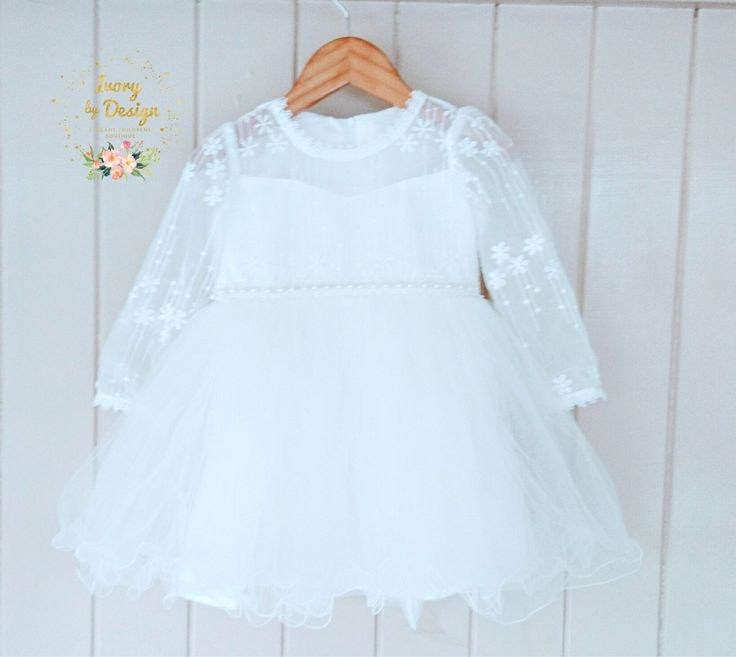 A personal favourite from my Etsy shop https://www.etsy.com/au/listing/527362306/ivory-lace-tulle-baby-girl-baptism-dress