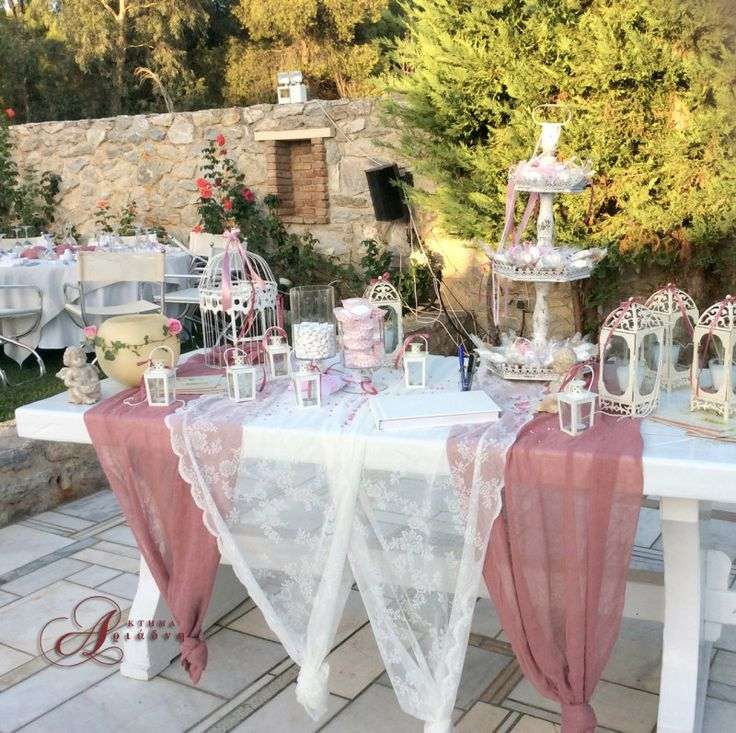 Τραπέζι ευχών τον εξωτερικό χώρο του κτήματος Αριάδνη
