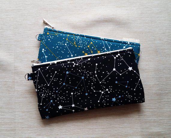 4e34c87d1f10 Constellation pouch, large pencil case, zipper pouch, makeup pouch ...