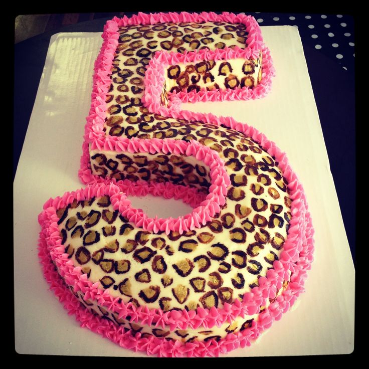 Hand painted cheetah cake but for #1