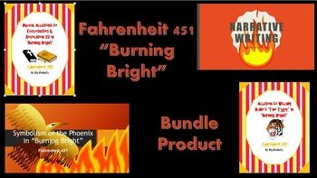 """Save over 25% by purchasing all of these products on """"Burning Bright"""" together!  Included in this bundle product are:  1. Narrative Writing Prompts that are PARCC aligned for Part 3: """"Burning Bright.""""  2. """"The Tyger"""" Allusion in """"Burning Bright"""".  3. Biblical Allusions in """"Burning Bright."""" 4. The Significance of the Phoenix."""
