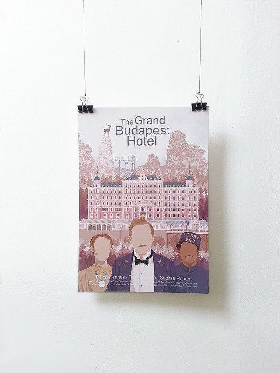 Affiche de film The Grand Budapest Hotel  par MinusculeMotion